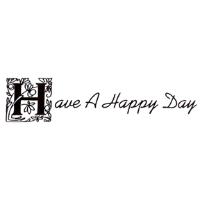 DISCONTINUED HAVE A HAPPY DAY  STAMP PARTY SUPPLIES