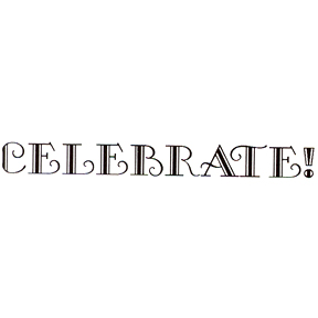 DISCONTINUED CELEBRATE! RUBBER STAMP PARTY SUPPLIES