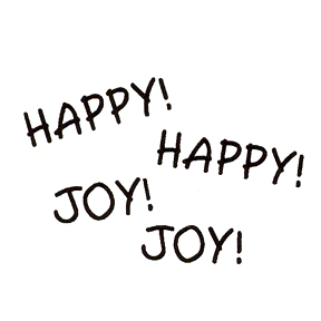 DISCONTINUED HAPPY! JOY! RUBBER STAMP PARTY SUPPLIES