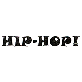 DISCONTINUED HIP HOP MEDIUM RUBBER STAMP PARTY SUPPLIES