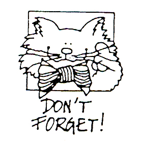 DISCONTINUED DON'T FORGET CAT  STAMP PARTY SUPPLIES