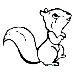 Click for larger picture of DISCONTINUED SQUIRREL RUBBER STAMP PARTY SUPPLIES