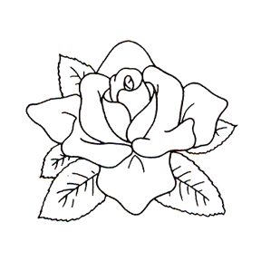 Click for larger picture of DISCONTINUED ROSE RUBBER STAMP PARTY SUPPLIES