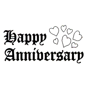DISCONTINUED HAPPY ANNIV/HEARTS  STAMP PARTY SUPPLIES