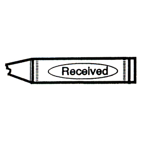 DISCONTINUED CRAYON RECEIVED RBBR STAMP PARTY SUPPLIES