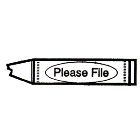 DISCONTINUED CRAYON PLEASE FILE  STAMP PARTY SUPPLIES