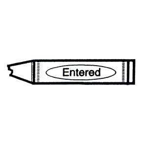 DISCONTINUED CRAYON ENTERED RUBBER STAMP PARTY SUPPLIES