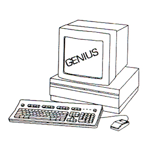 DISCONTINUED COMPUTER GENIUS RBBR STAMP PARTY SUPPLIES