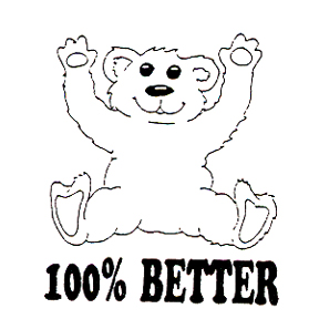 DISCONTINUED BEAR 100% BETTER  STAMP PARTY SUPPLIES