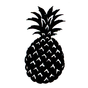 Click for larger picture of DISCONTINUED PINEAPPLE STENCIL  STAMP PARTY SUPPLIES