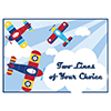 LIL FLYER AIRPLANE CUSTOMIZED PLACEMAT PARTY SUPPLIES