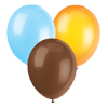 LIGHT BLUE, ORANGE & BROWN BALLOONS PARTY SUPPLIES