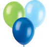 LT BLUE, BLUE, LT GREEN BALLOONS (SOLID) PARTY SUPPLIES