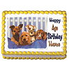 PUPPIES EDIBLE ICING ART PARTY SUPPLIES