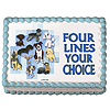 DISCONTINUED DOGS EDIBLE ICING ART PARTY SUPPLIES