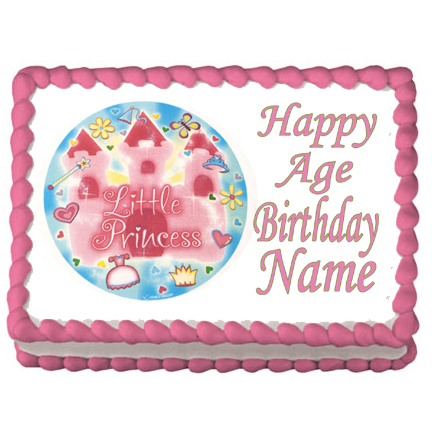 Click for larger picture of PRINCESS BIRTHDAY EDIBLE ICING ART PARTY SUPPLIES