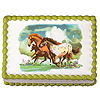 WILD HORSES EDIBLE ICING ART PARTY SUPPLIES