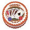 POKER EDIBLE ICING ART PARTY SUPPLIES
