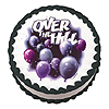OVER THE HILL EDIBLE ICING ART PARTY SUPPLIES
