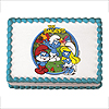 SMURFS EDIBLE ICING ART PARTY SUPPLIES