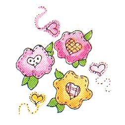 DISCONTINUED I LOVE FLOWERS RUBBER STAMP PARTY SUPPLIES