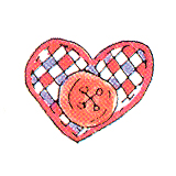 DISCONTINUED LILLY'S HEART RUBBER STAMP PARTY SUPPLIES