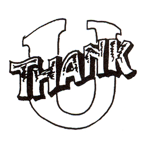 DISCONTINUED THANK-U RUBBER STAMP PARTY SUPPLIES