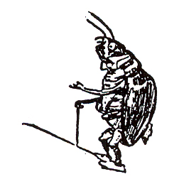 Click for larger picture of DISCONTINUED MR BEETLE RUBBER STAMP PARTY SUPPLIES