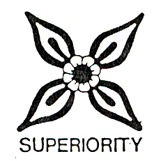 DISCONTINUED SUPERIORITY SYMBOL  STAMP PARTY SUPPLIES