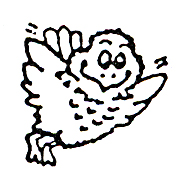 Click for larger picture of DISCONTINUED HAPPY BIRD RUBBER STAMP PARTY SUPPLIES