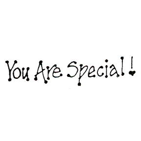 DISCONTINUED YOU ARE SPECIAL RBBR STAMP PARTY SUPPLIES