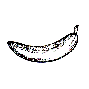 DISCONTINUED BANANA RUBBER STAMP PARTY SUPPLIES