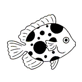 DISCONTINUED CUTE FLOUNDER FISH  STAMP PARTY SUPPLIES
