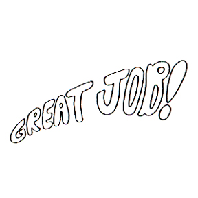 DISCONTINUED GREAT JOB GRADUATED STAMP PARTY SUPPLIES