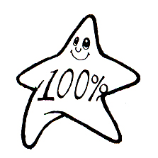 DISCONTINUED STAR 100% RUBBER STAMP PARTY SUPPLIES