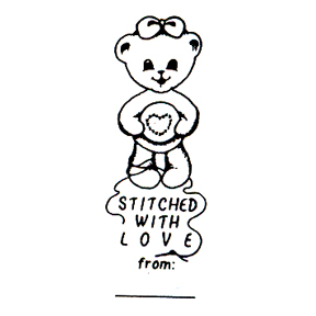 DISCONTINUED STITCHED W/LOVE BEAR STAMP PARTY SUPPLIES