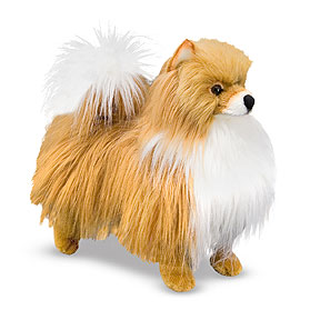 Plush Dogs Party Supplies Pomeranian Plush 2008