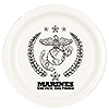 MARINES DESSERT PLATE (8/PKG) PARTY SUPPLIES