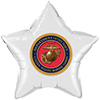 MARINES WHITE STAR BALLOON PARTY SUPPLIES