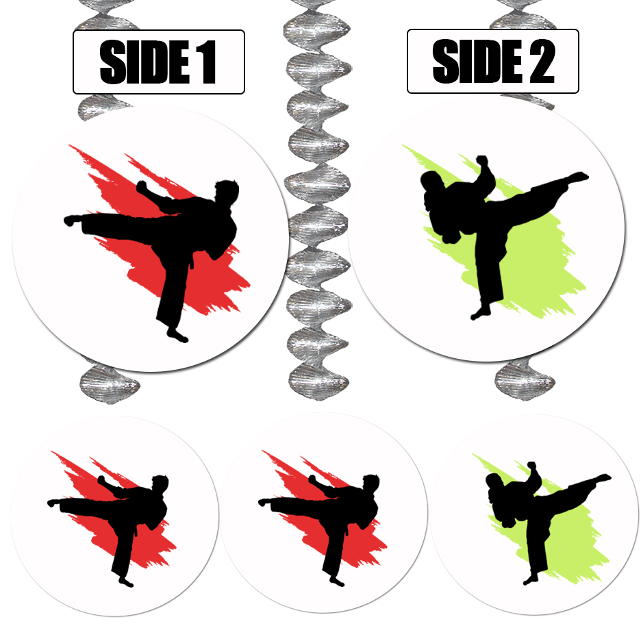 MARTIAL ARTS DANGLER DECORATION PARTY SUPPLIES