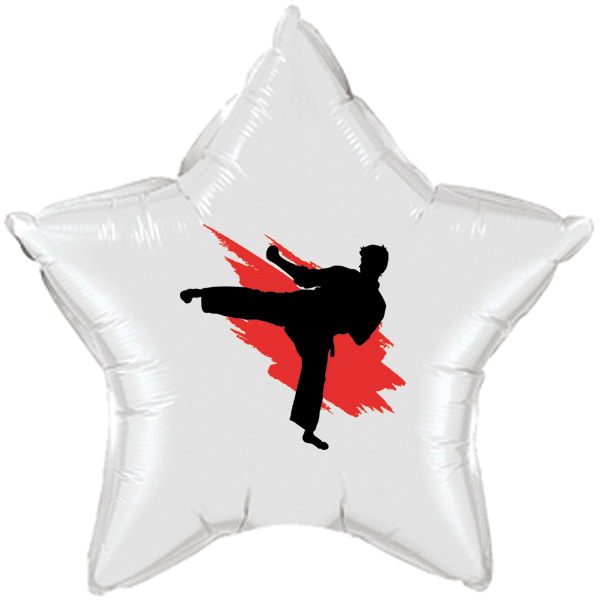 MARTIAL ARTS MYLAR BALLOON PARTY SUPPLIES