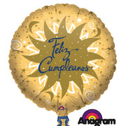 18IN. FELIZ CUMPLEANOS LUNA MYLAR (5/CS) PARTY SUPPLIES