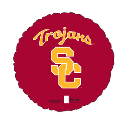 18IN. USC TROJANS MYLAR BALLOON (5/CS) PARTY SUPPLIES