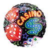 18IN. CASINO MYLAR BALLOON (5/CS) PARTY SUPPLIES