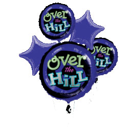 OVER THE HILL BALLOON BOUQUET MYL (EACH) PARTY SUPPLIES
