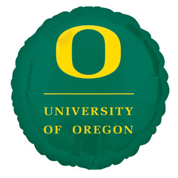 18IN. U OF OREGON GREEN MYL BLN (5/CS) PARTY SUPPLIES