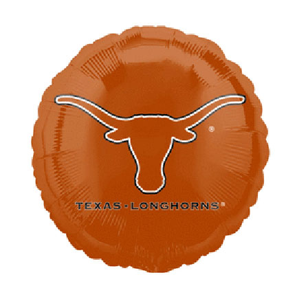 18IN. U OF TEXAS MYLAR BALLOON (5/CS) PARTY SUPPLIES