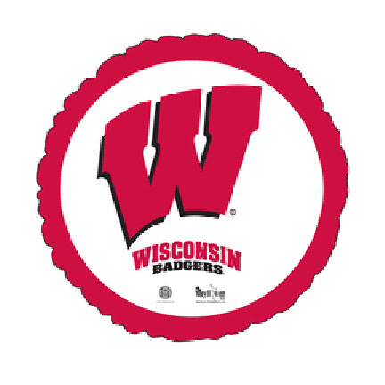18IN. U OF WISCONSIN MYLAR BALLON (5/CS) PARTY SUPPLIES