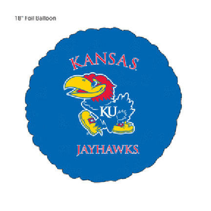 18IN. U OF KANSAS JAYHAWK MYL BLN (5/CS) PARTY SUPPLIES