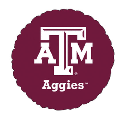 18IN. TEXAS A AND M MYLAR BALLOON (5/CS) PARTY SUPPLIES